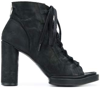 The Last Conspiracy open lace-up boots