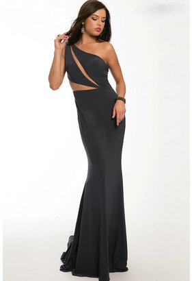 Jovani - One Shoulder Mermaid Dress 98177 $500 thestylecure.com