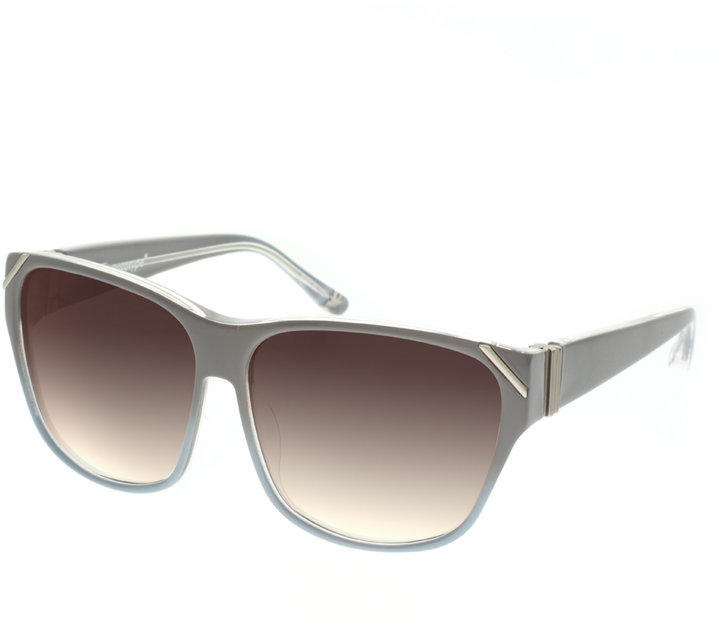 Linda Farrow Projects Prototype Pick Pointed Square Sunglasses