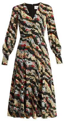 Erdem Osiris Silk Crepe De Chine Dress - Womens - Multi