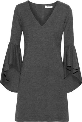 Bailey 44 Avalanche Ruffled Melange Stretch-jersey Mini Dress
