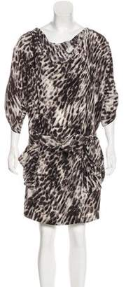 BCBGMAXAZRIA Silk Printed Dress