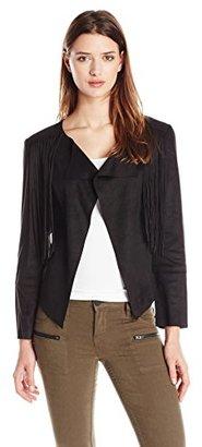 Buffalo David Bitton Women's Oleta Faux Suede Fringed Jacket $89 thestylecure.com