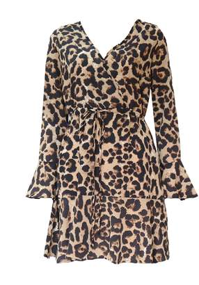 Goodnight Macaroon 'Lewis' Leopard Print Wrap Dress (3 Colors)