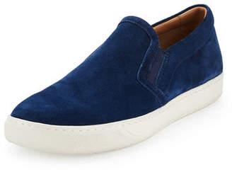 Vince Barron Suede Slip-On Sneaker, Blue $250 thestylecure.com