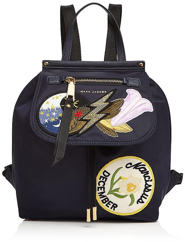 Marc JacobsMARC JACOBS Embellished Zip Nylon Backpack