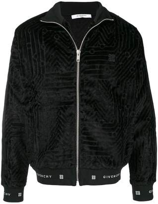 Givenchy embroidered pattern bomber jacket