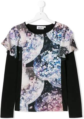 Molo frilled disco ball tee