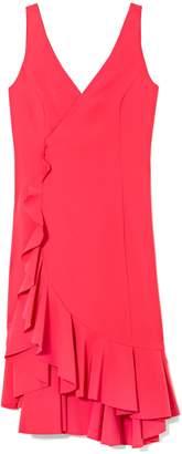 Vince Camuto Ruffle V-neck Dress