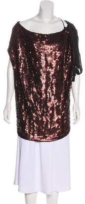 Robert Rodriguez Silk Sequin Top w/ Tags