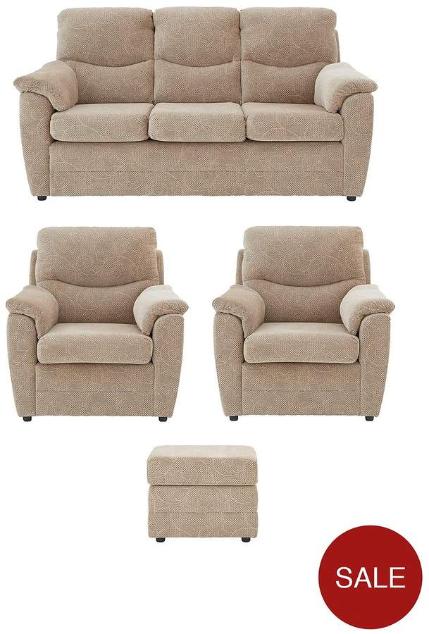 Dalton 3 Seater + 2 Chairs + Footstool