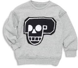 Nununu Baby Boy's, Little Boy's& Boy's Skull Robot Patch Sweatshirt