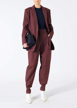 Tibi Menswear Check Oversized Blazer