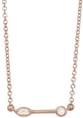 Tate Marquis And Round Diamond Stick Necklace
