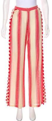 Dodo Bar Or High-Rise Striped Pants w/ Tags