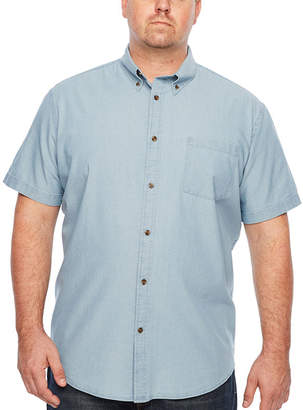 Co THE FOUNDRY SUPPLY The Foundry Big & Tall Supply Short Sleeve Geometric Button-Front Shirt-Big and Tall