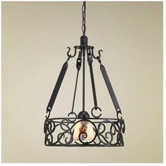 Hi-Lite Authentic Iron Circular Hanging Pot Rack with Light