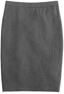 J.Crew Petite pencil skirt in Italian two-way stretch wool