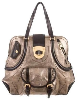 Alexander McQueen Metallic Leather Handle Bag Gold Metallic Leather Handle Bag