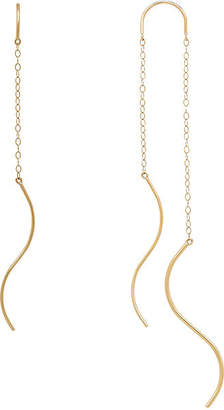 FINE JEWELRY 14K Gold S Tube Chain Threader Earrings