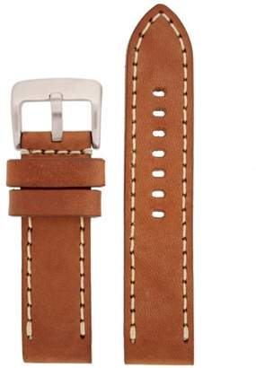 Tech Swiss LEA1553-26 26 mm Leather Calfskin Brown Watch Band.