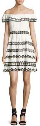 Alice + Olivia Rozzi Off-the-Shoulder Dress, Multi