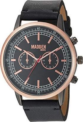 Steve Madden Men's SMMW014Q-BK Analog Display Japanese Quartz Black Watch
