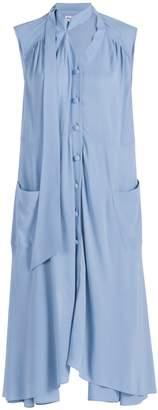 Balenciaga Sleeveless Drape Top