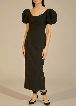 KHAITE The Allison Dress in Black