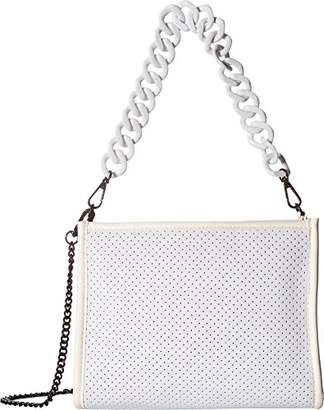Steve Madden Dorinda Lightweight Neoprene PERFERATED Shoulder Bag with Chain Detail