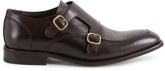 Reiss Rilmont - Double Monk Strap Shoes in Dark Brown