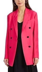 Valentino Women's Silk-Wool Double-Breasted Blazer - Pink