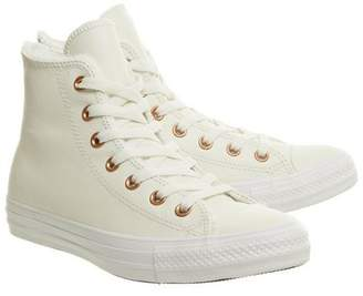 Converse supplied by Office **Converse Nude All Star Hi Leather Trainers