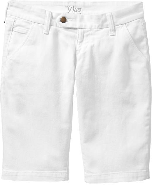 "Women's The Diva Button-Tab Denim Bermudas (12"")"