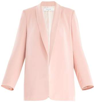 PAISIE - Open Front Blazer with Shawl Lapel in Pink