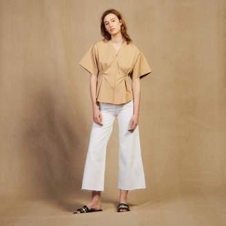 Sandro Short-Sleeved Cotton Blouse