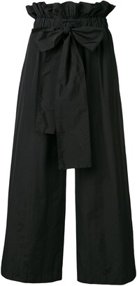 MSGM flared bow trousers