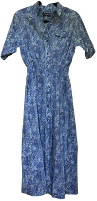 Liberty of London Designs Blue Cotton Dress for Women