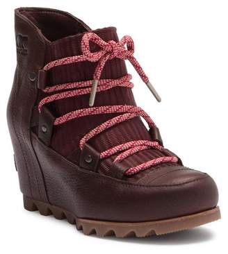 Sorel Sandy Leather Wedge Boot