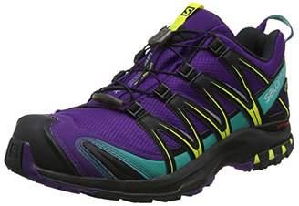 Salomon Women's XA Pro 3D GTX Trail Running Shoes, Synthetic/Textile, Mauve/Black (Acai/Black/Dynasty Green), Size: 41. 3