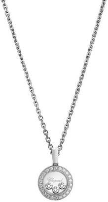Chopard Happy Diamonds Round Pendant Necklace in 18K White Gold