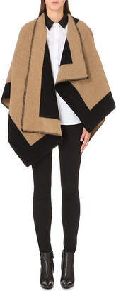 Burberry Checked wool and cashmere-blend blanket cape