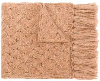 Lardini cable-knit scarf