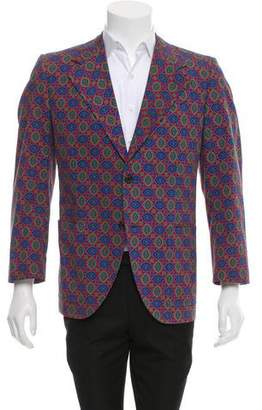 Prada Printed Two-Button Sport Coat