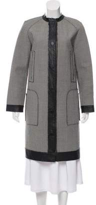Lanvin Houndstooth Knee-Length Coat