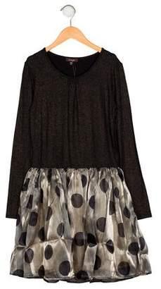 Imoga Girls' Polka Dot Print Dress