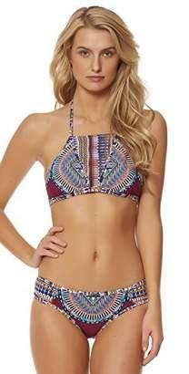 Red Carter Women's Tribal Daze Halter Strappy Triangle Bikini Top