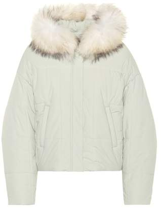 Yves Salomon Army Fur-trimmed puffer jacket