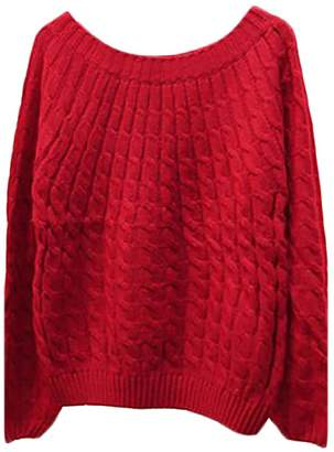 ARRIVE GUIDE Womens Casual Warm Thick Knitted Solid Autumn Pullovers Sweaters