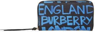 Burberry Graffiti Logo Print Wallet
